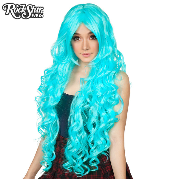 Cosplay Wigs Usa Curly 90cm 36 Quot Aqua Blue 00315