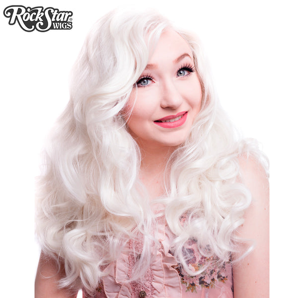 Lace Front Peek A Boo White Platinum Blonde 00724