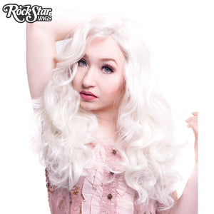 Lace Front Peek-A-Boo - White Platinum Blonde -00724