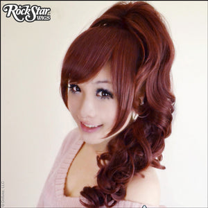 Gothic Lolita Wigs® <br> Pixie™ Collection - Ponytail 1 (Burgundy & Brown Mix) -00085