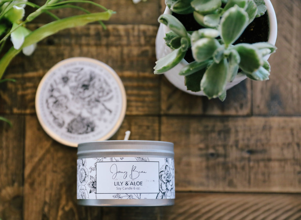 Lily + Aloe Soy Travel Tin Candle - Jenny Bean