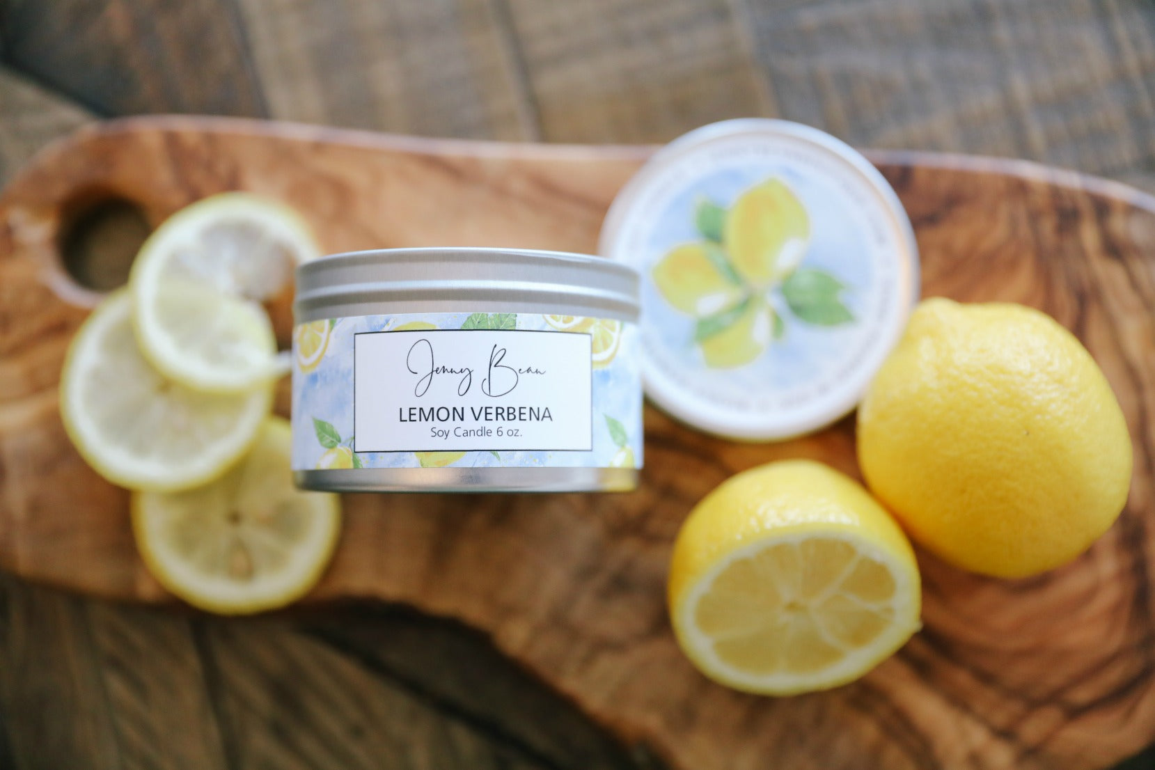 Lemon Verbena Soy Travel Tin Candle