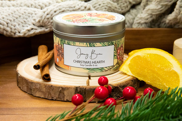 Christmas Hearth Soy candle Tin