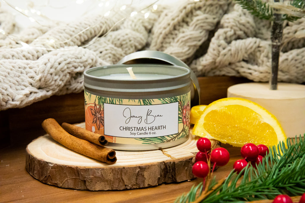 Christmas Hearth Soy Candle - Jenny Bean