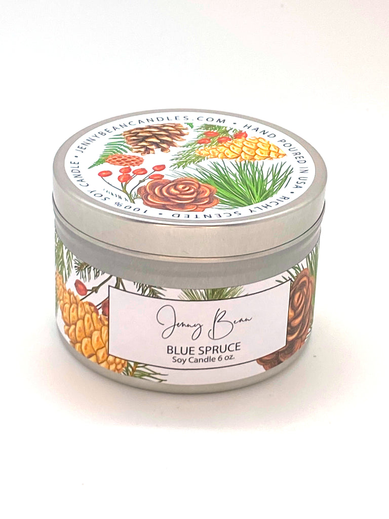 Blue Spruce Christmas Soy Candle - Jenny Bean