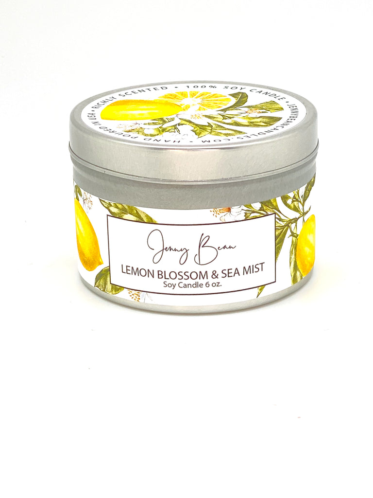Lemon Bloosom + Sea Mist Soy Candle