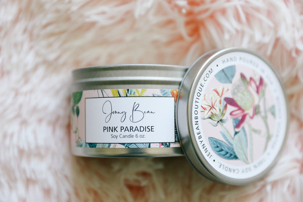 Pink Paradise Soy Candle - Jenny Bean