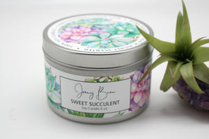 Sweet Succulant Soy Travel Tin Candle