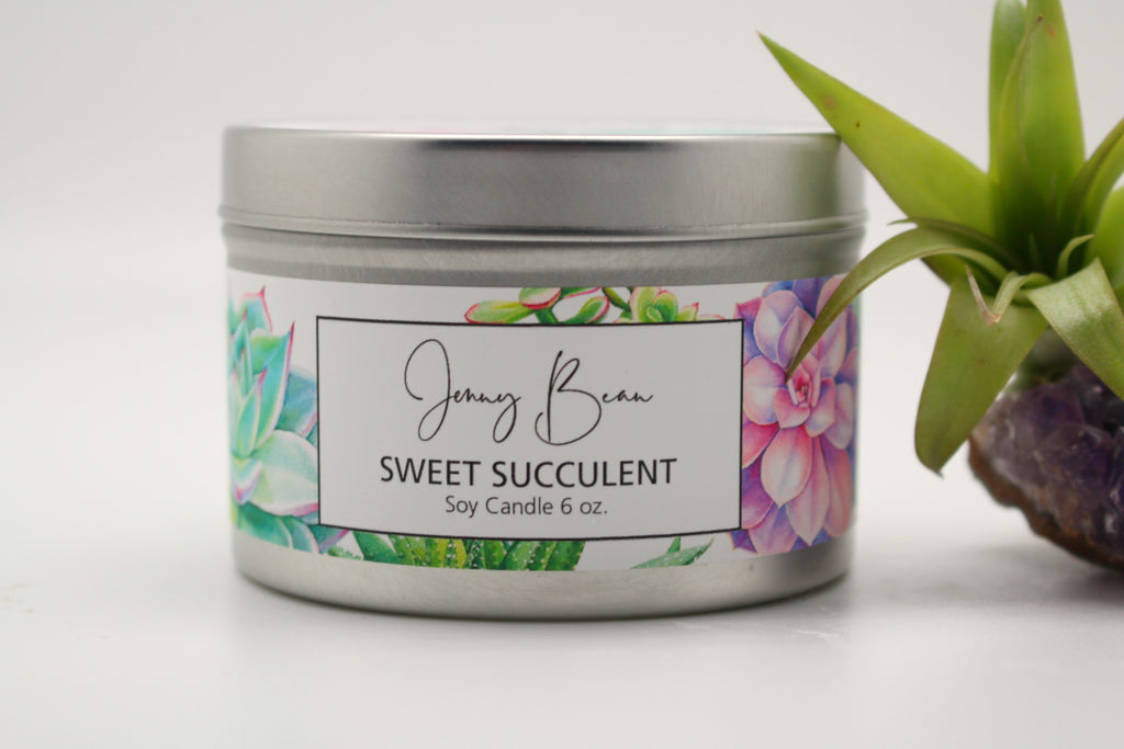 Sweet Succulant Soy Travel Tin Candle - Jenny Bean