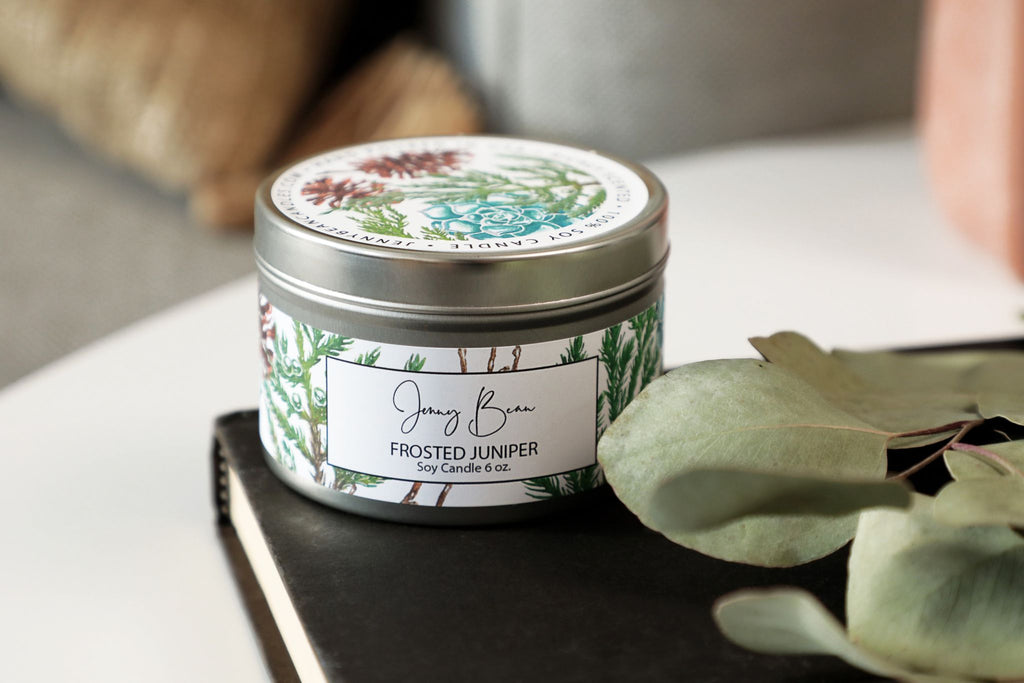 Frosted Juniper Soy Candle - Jenny Bean