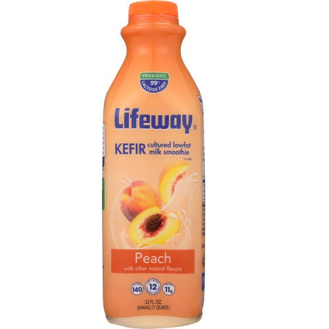 Lifeway Low Fat Peach, 32 Oz (Pack of 6)