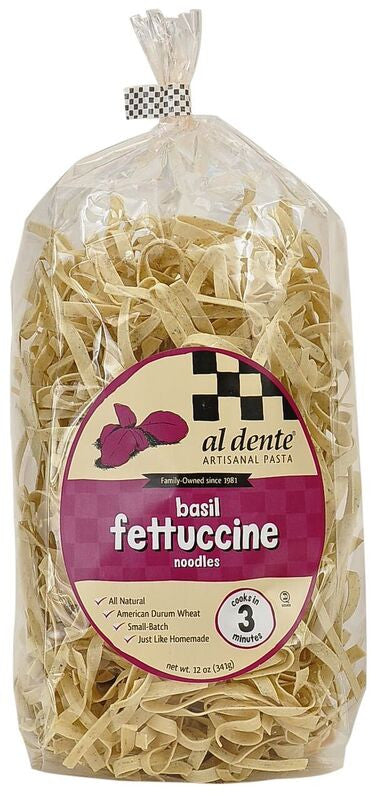 Al Dente Basil Fettuccine Noodles, 12 Oz (Pack of 6)