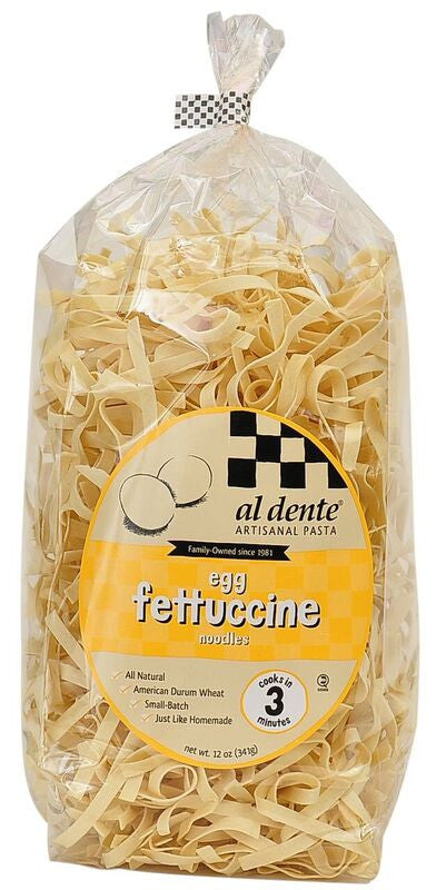 Al Dente Egg Fettuccine Noodles, 12 Oz (Pack of 6)