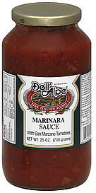 Dell Alpe Marinara Sauce, 25 OZ, (Pack of 6)