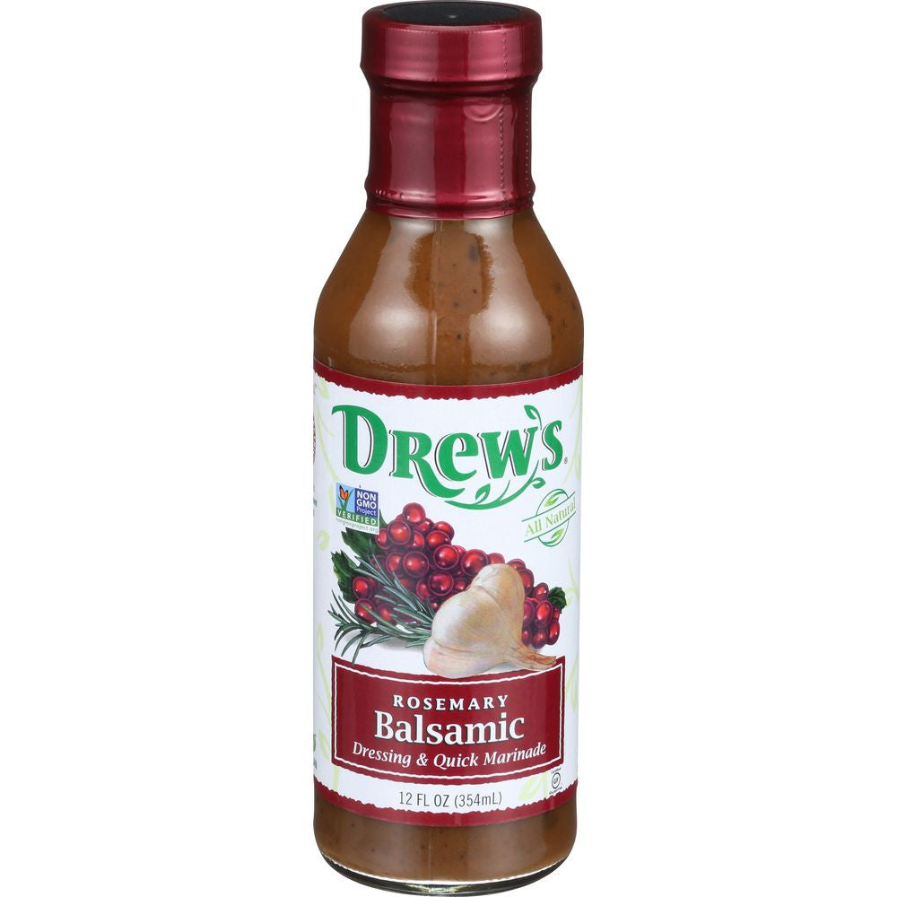 Drew's Drew's Rosemary Balsamic Dressing Low Carb, 12 OZ (Pack of 6)