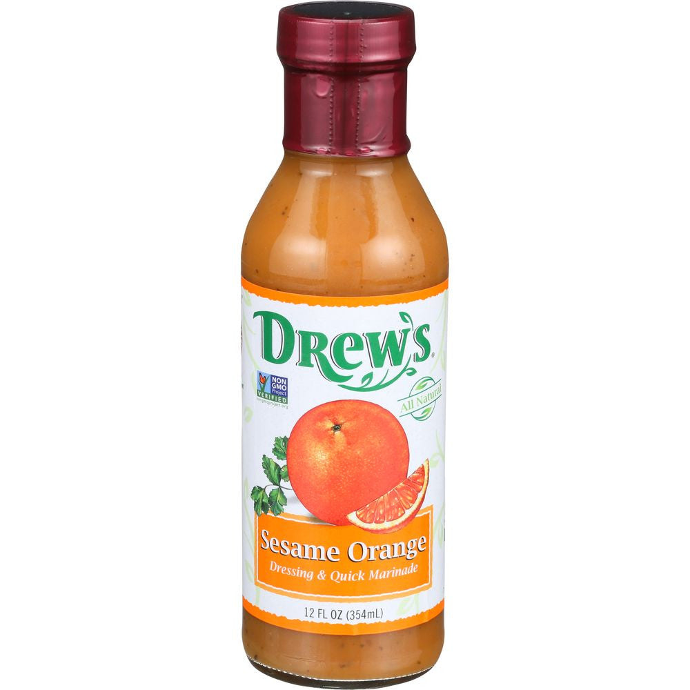 Drew's Sesame Orange Dressing & Quick Marinade, 12 OZ (Pack of 6)