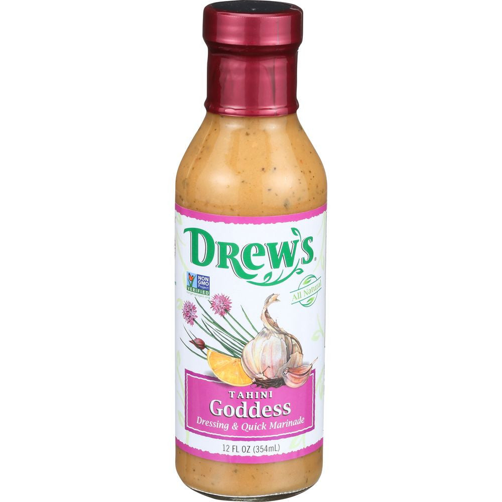 Drew's Dressing Lemon Tahini Goddess, 12 OZ (Pack of 6)