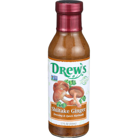 Drew's Shiitake Ginger Dressing & Quick Marinade, 12 OZ (Pack of 6)