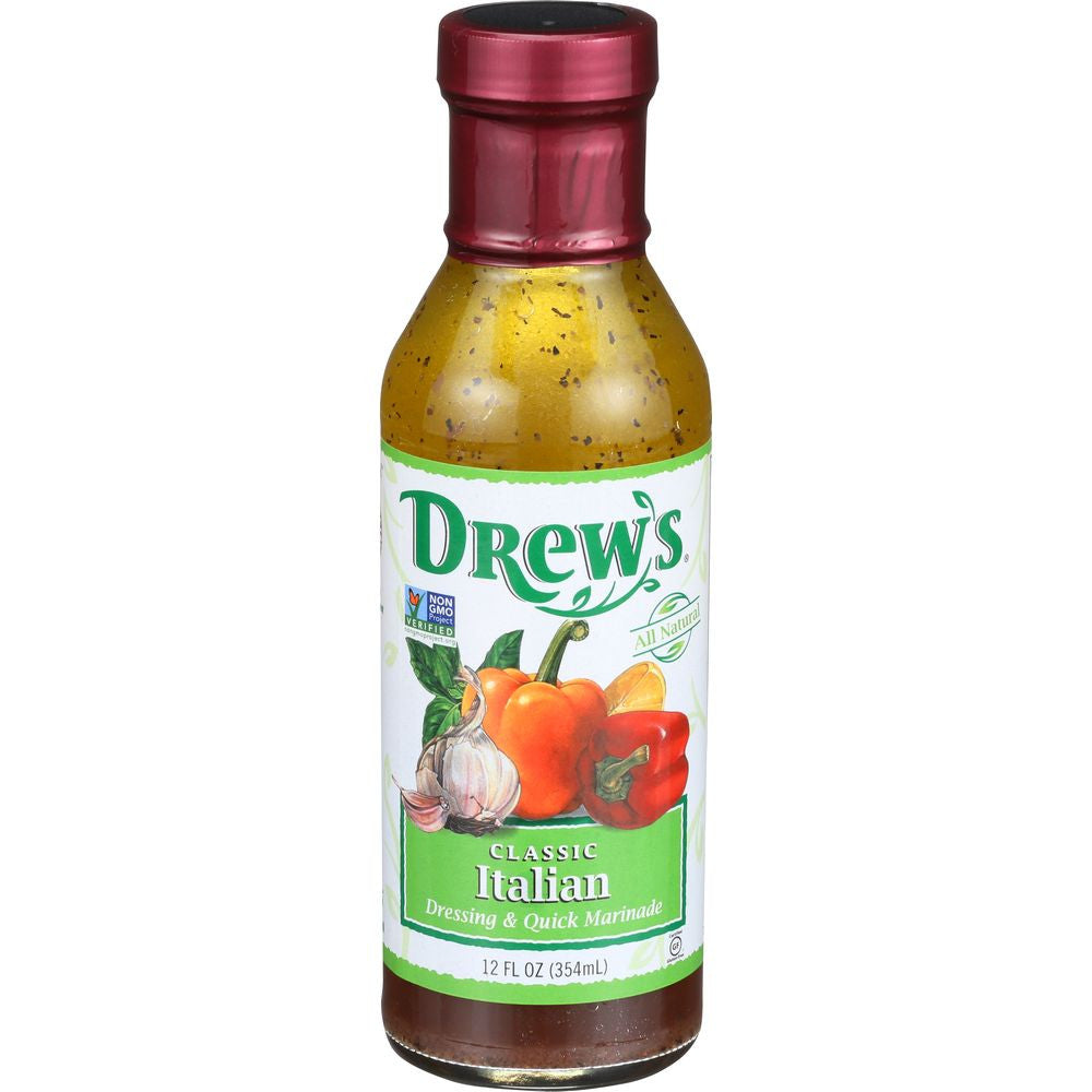 Drew's Classic Italian Vinaigrette & Quick Marinade, 12 OZ (Pack of 6)