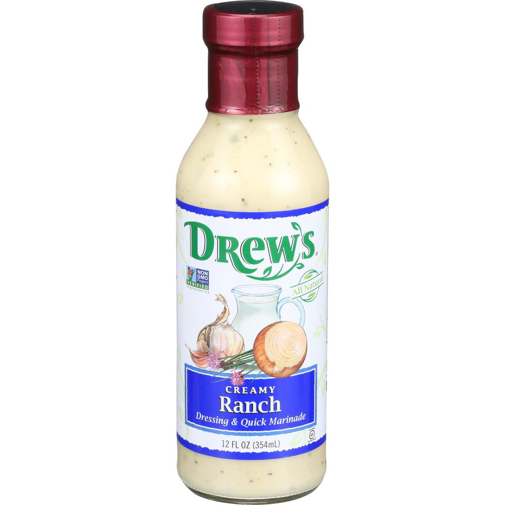 Drew's Marinade Buttermilk Ranch Dressing, 12 OZ (Pack of 6)