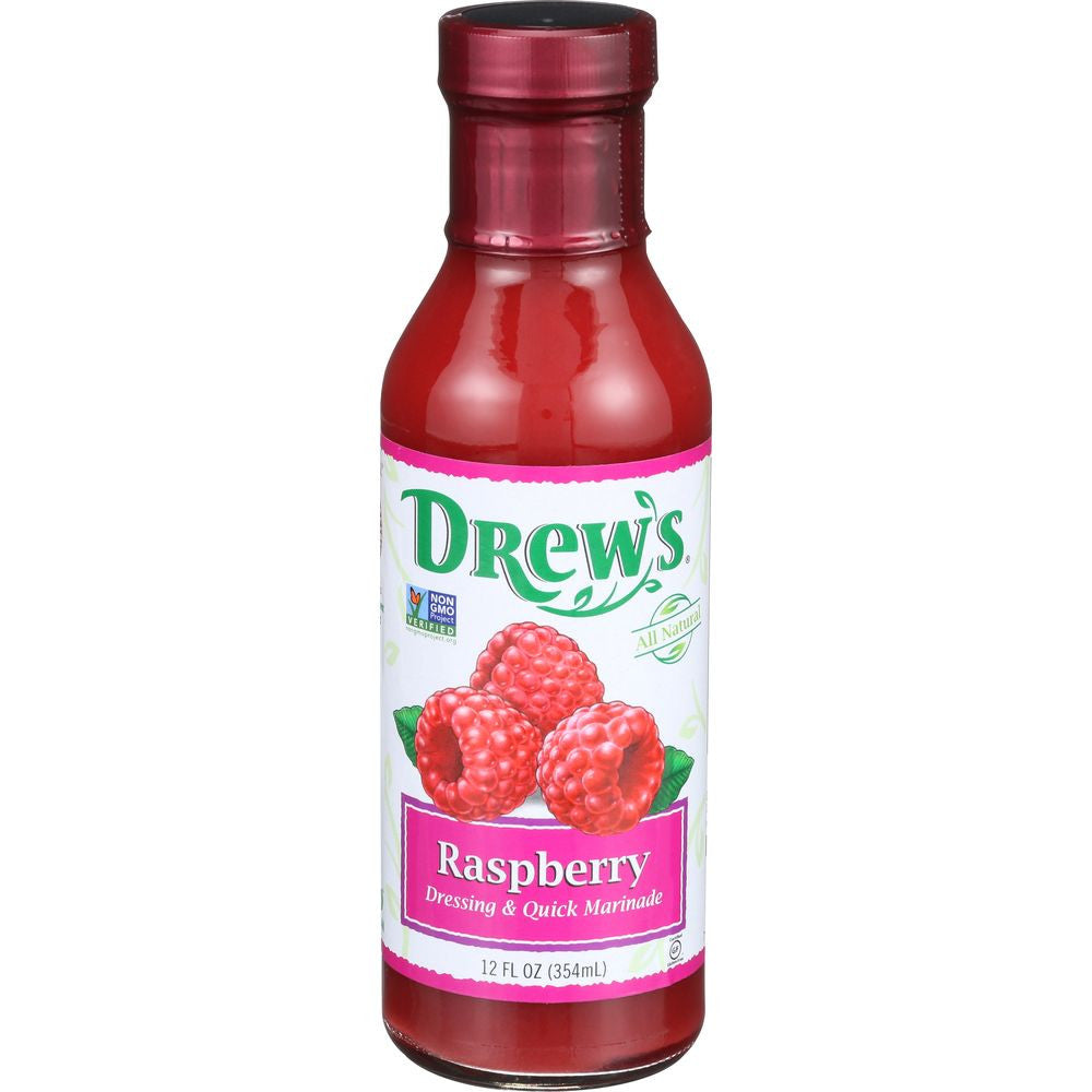 Drew's Raspberry Dressing & Quick Marinade, 12 OZ (Pack of 6)