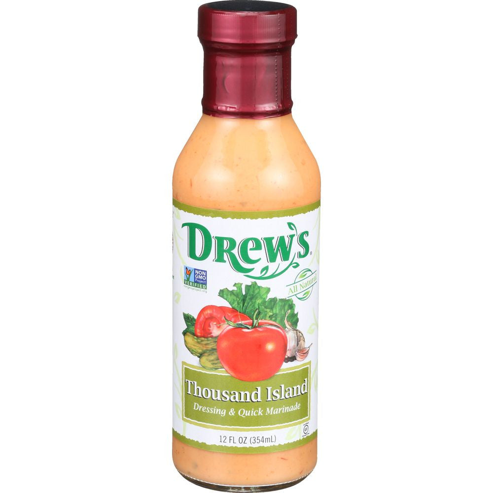 Drew's Thousand Island Dressing & Quick Marinade, 12 Oz (Pack of 6)