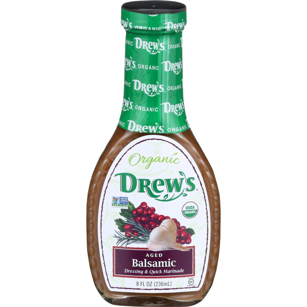 Drew's Aged Balsamic Dressing & Marinade, 8 OZ (Pack of 6)