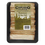 Chicago Flats Rosemary Sea Salt Flatbread, 8 oz (Pack of 10)