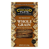 Chicago Flats Whole Grain Flatbread With Flax, Poppy & Sesame Seeds, 6 oz (Pack of 12)