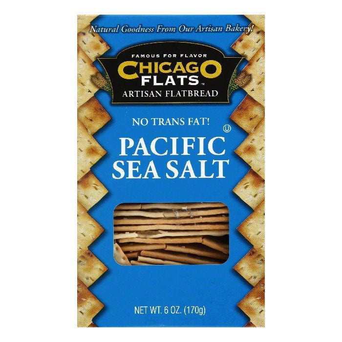 Chicago Flats Pacific Sea Salt Flatbread, 6 oz (Pack of 12)