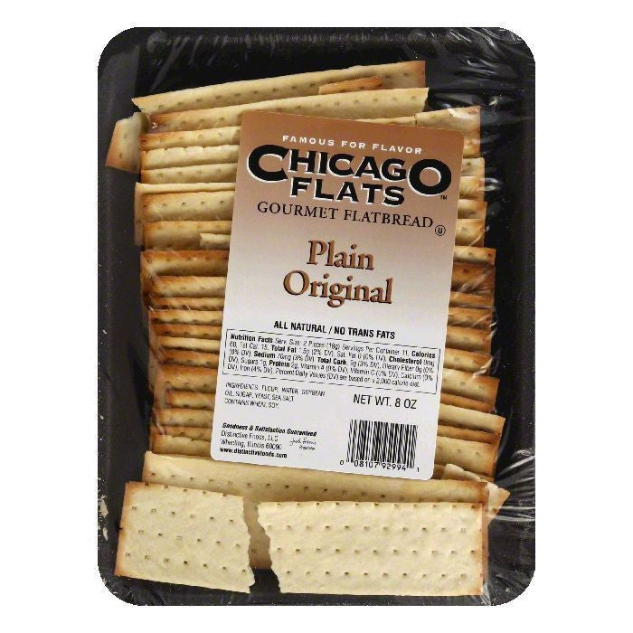 Chicago Flats Plain Original Flatbread, 8 oz (Pack of 10)