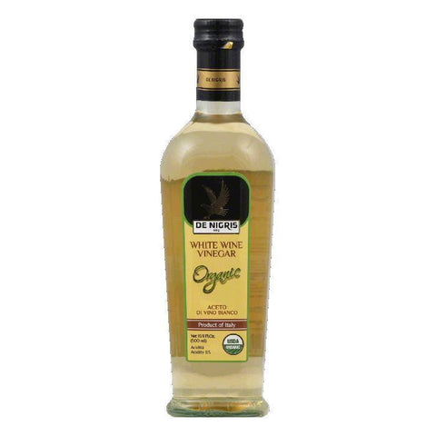 De Nigris Organic White Wine Vinegar, 16.9 fl oz, (Pack of 6)
