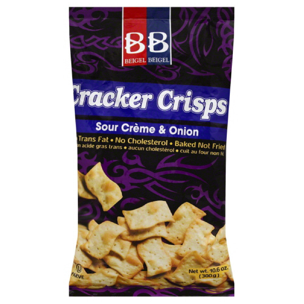 Bronner Bros Sour Creme & Onion Cracker Crisps, 10.6 Oz (Pack of 12)