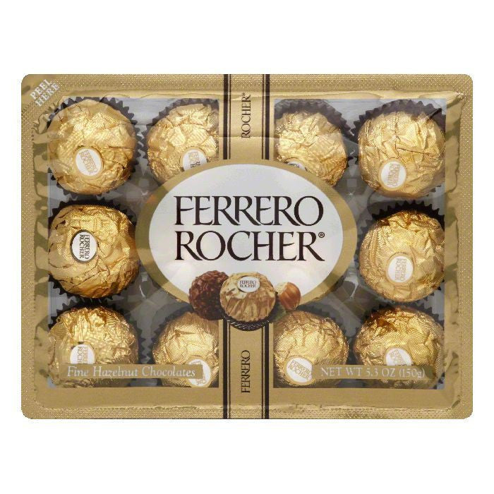 Ferrero Fine Hazelnut Chocolates, 5.3 Oz (Pack of 12)