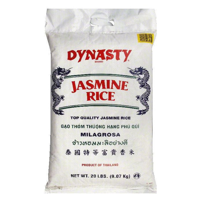 Dynasty Rice Jasmine Long Grain, 20 LB