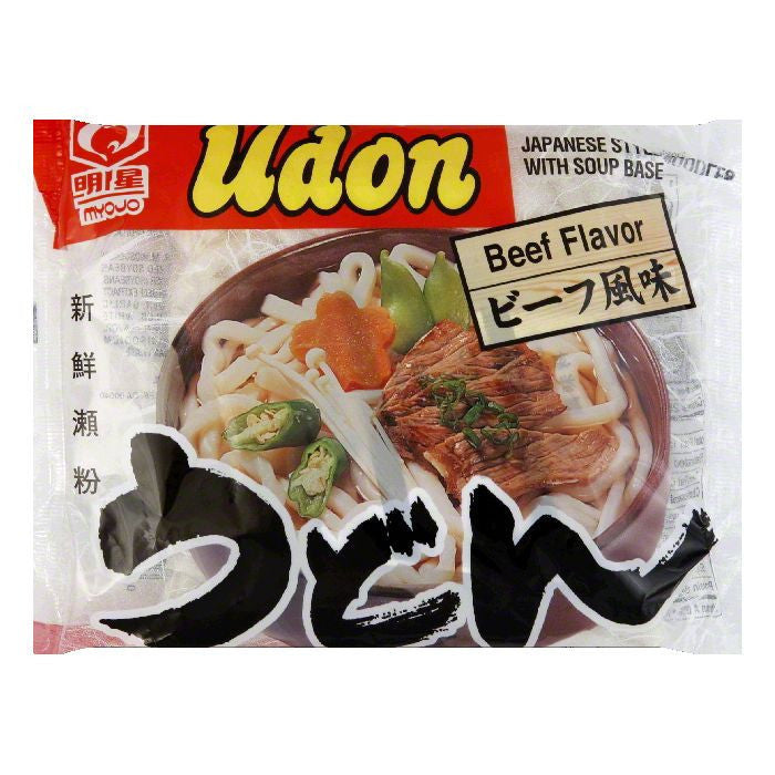 Myojo Udon Noodle Soup Mix Beef, 7.25 OZ (Pack of 30)
