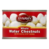 Dynasty Whole Water Chestnuts, 8 OZ (Pack of 12)