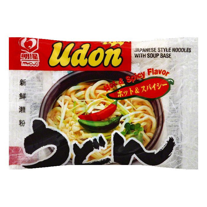 Myojo Hot & Spicy Flavor Japanese Style Udon Noodles, 7.22 OZ (Pack of 30)