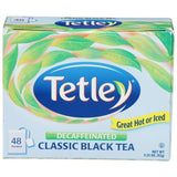 Tetley Decaffeinated Classic Black Tea Bags 48 ct  (Pack of 12)