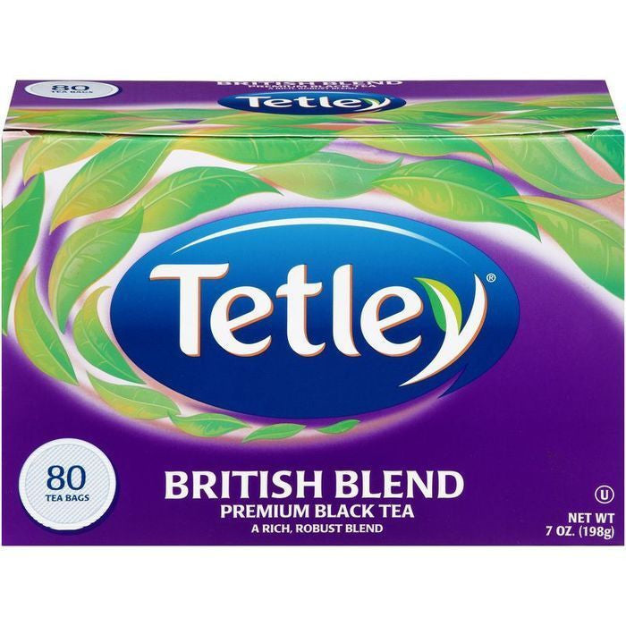 Tetley British Blend Tea Bags 80 ct  (Pack of 12)
