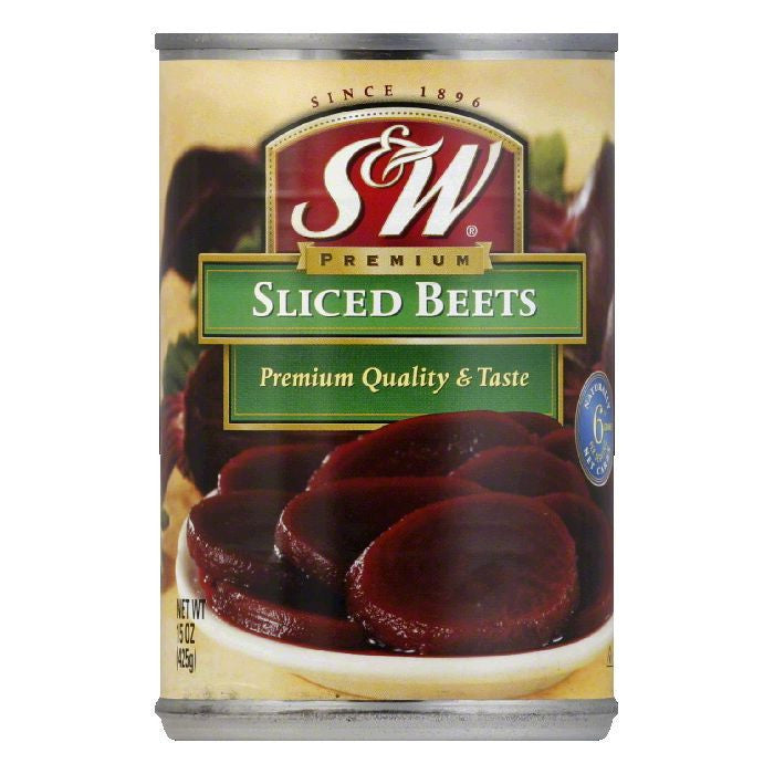 S&W Sliced Beets, 15 OZ (Pack of 12)