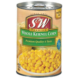 S&W Whole Kernel Corn 15.25 Oz Pull-Top  (Pack of 24)