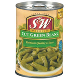S&W Cut Green Beans 14.5 Oz Pull-Top  (Pack of 24)
