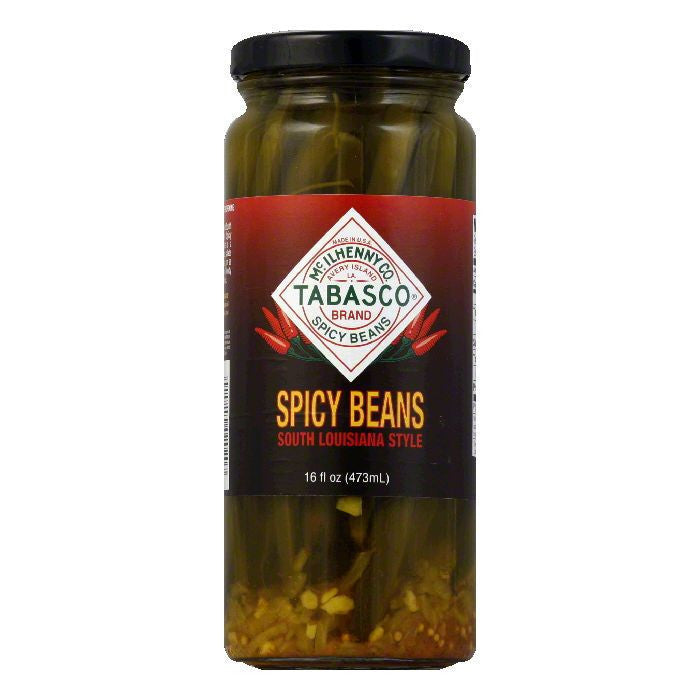Tabasco Vegetable Green Beans Spicy, 16 OZ (Pack of 12)