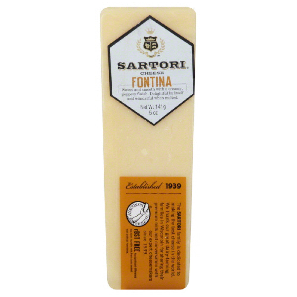 Sartori Fontina Cheese, 5 Oz (Pack of 12)