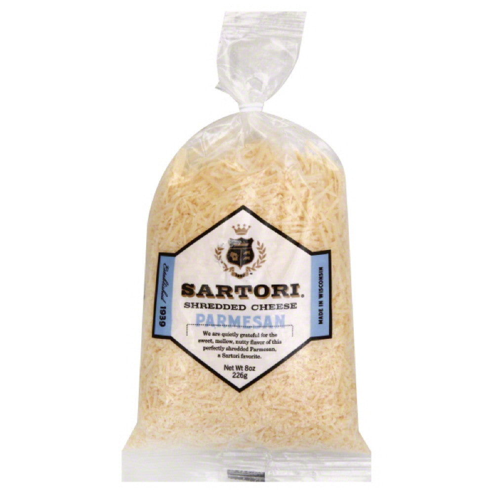 Sartori Parmesan Shredded Cheese, 8 Oz (Pack of 16)