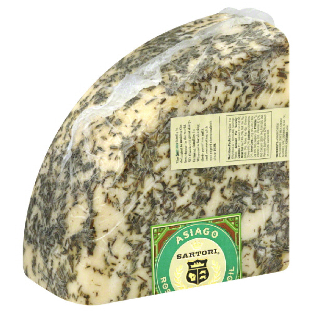 Sartori Rosemary & Olive Oil Asiago Cheese, 20 Lb