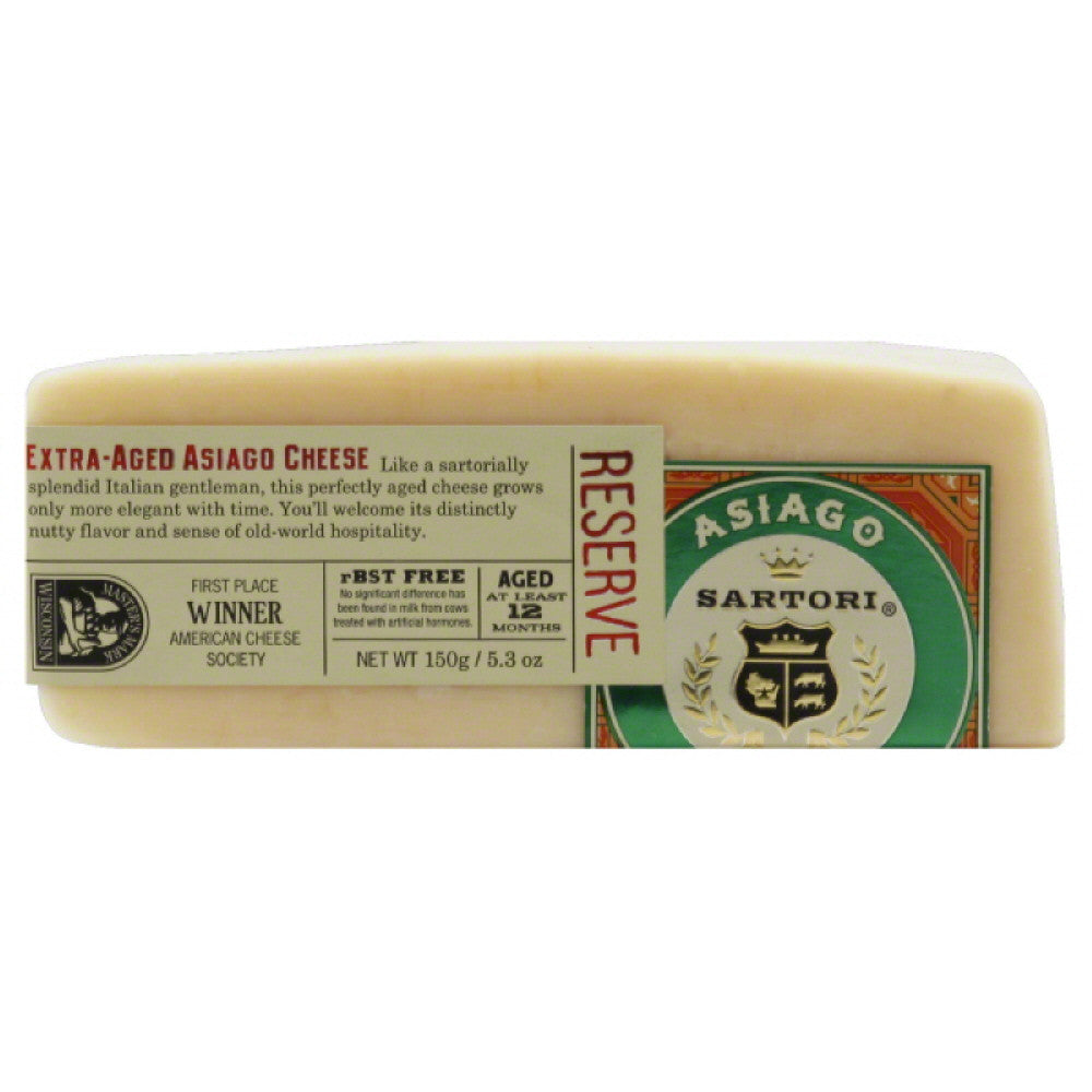 Sartori Extra-Aged Asiago Cheese, 5.3 Oz (Pack of 12)