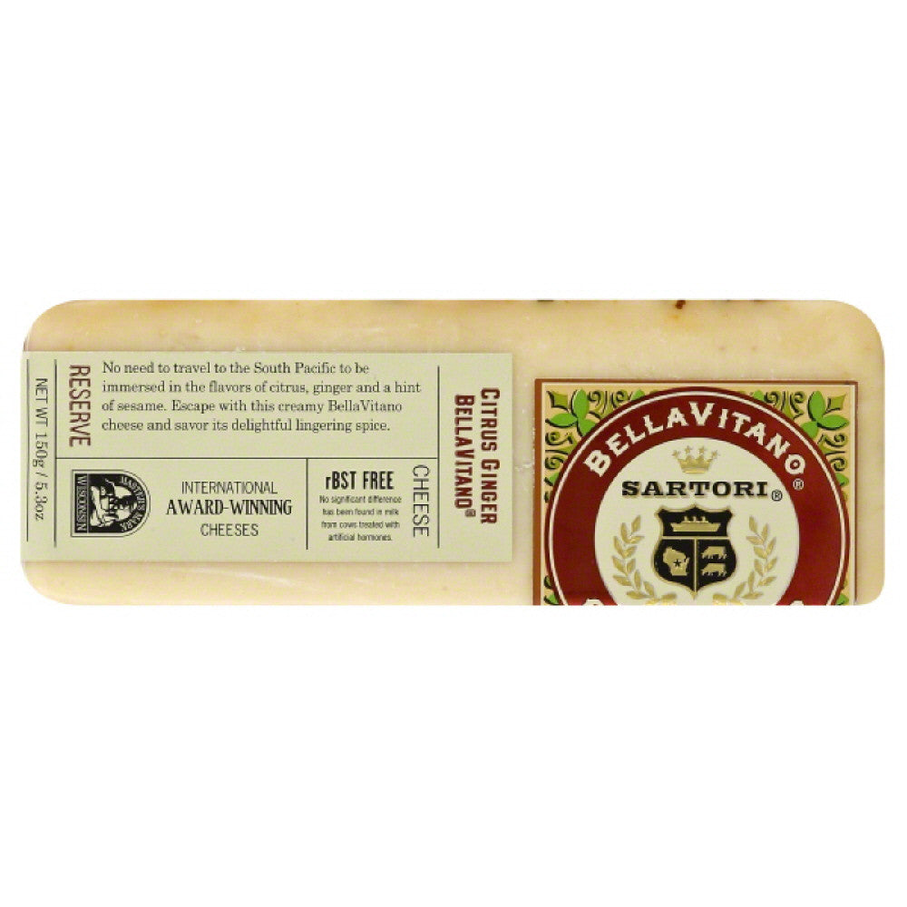 BellaVitano Citrus Ginger BellaVitano Cheese, 5.3 Oz (Pack of 12)