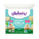 Wholesome Sweeteners Organic Vanilla Frosting, 12.5 OZ (Pack of 6)